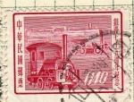 Stamps China -  Locomotora