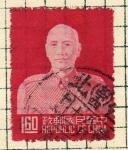 Stamps China -  67º Aniver. de Tchang Kai Chek