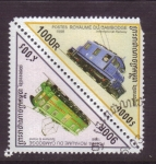 Stamps Cambodia -  serie-locomotoras electricas