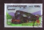 Stamps Cambodia -  serie-locomotoras