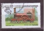 Sellos de Asia - Camboya -  serie- Locomotoras