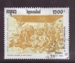 Stamps Cambodia -  serie- 500 años descubrimiento de America