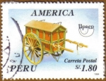 Sellos del Mundo : America : Perú : CARRETA POSTAL