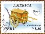 Stamps America - Peru -  CARRETA POSTAL