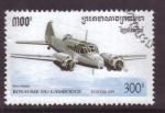 Stamps Asia - Cambodia -  serie- aviones militares