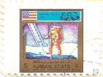 Sellos de Asia - Emiratos Árabes Unidos -  AJMAN - Apollo 11