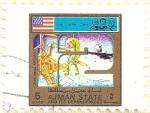 Sellos de Asia - Emiratos Árabes Unidos -  AJMAN - Apollo 12