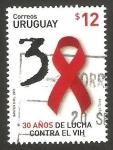 Stamps : America : Uruguay :  30 años de lucha contra el VIH