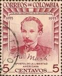 Sellos de America - Colombia -  José Martí, Apóstol de la Libertad Americana.
