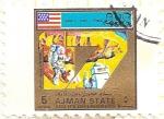 Stamps United Arab Emirates -  AJMAN - Apollo 17