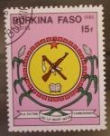 Sellos de Africa - Burkina Faso -  escudo