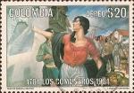 Stamps : America : Colombia :  Bicentenario de la Revuelta de los Comuneros. 1781-1981.