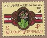 Stamps Austria -  Bicentenario del tabaco austriaco