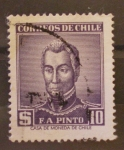Sellos de America - Chile -  f.a. pinto