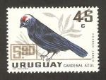Stamps Uruguay -  316 - ave cardenal azul