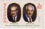 Stamps Ecuador -  75 Aniversario de El Comercio 1906 - 1981