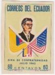 Sellos de America - Ecuador -  Gira de Confraternidad Julio 1962