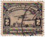 Sellos de America - Ecuador -  Avión sobre el río Guayas