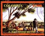 Sellos de America - Colombia -  EMISIÓN POSTAL TEJO - DEPORTE NACIONAL