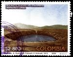 Stamps : America : Colombia :  EMISIÓN POSTAL LA LAGUNA DE GUATAVITA ESCENARIO RITUAL DE LA LEYENDA DEL DORADO