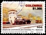 Sellos de America - Colombia -  EMISIÓN POSTAL LOCOMOTORAS DE COLOMBIA