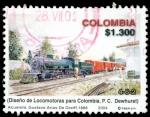 Sellos del Mundo : America : Colombia : EMISIÓN POSTAL LOCOMOTORAS DE COLOMBIA