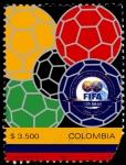 Stamps Colombia -  EMISIÓN POSTAL CENTENARIO FIFA
