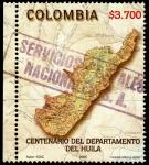 Sellos del Mundo : America : Colombia : EMISIÓN POSTAL CENTENARIO DEL DEPARTAMENTO DEL HUILA