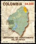 Sellos del Mundo : America : Colombia : EMISIÓN POSTAL CENTENARIO DEL DEPARTAMENTO DEL ATLANTICO
