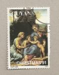Stamps America - Guyana -  Cuadro de Rafael