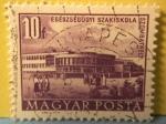 Sellos de Europa - Hungría -  egészségügyi szakiskola