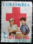 Stamps Colombia -  Cruz Roja Colombiana