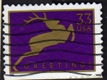 Stamps United States -  saludos