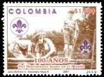 Sellos de America - Colombia -  EMISIÓN POSTAL 100 AÑOS DEL MOVIMIENTO SCOUT