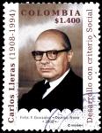 Stamps : America : Colombia :  EMISIÓN POSTAL CARLOS LLERAS RESTREPO - DESARROLLO CON CRITERIO SOCIAL -