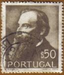 Stamps Portugal -  1er. Cent. Nacimiento GUERRA JUNQUEIRO