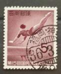 Stamps Japan -  gimnasta