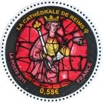 Sellos de Europa - Francia -  FRANCIA - - Catedral de Notre-Dame, antigua Abadía de St.Remi y Palacio de Tau en Reims