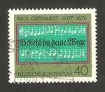 Sellos de Europa - Alemania -  742 - III centº de la muerte de paul gerhart