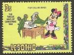 Sellos del Mundo : Africa : Lesotho : 514 - Navidad, ilustración Disney, 4 pájaros al teléfono