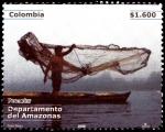 Sellos de America - Colombia -  EMISIÓN POSTAL DEPARTAMENTOS DE COLOMBIA - AMAZONAS