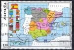 Stamps of the world : Spain :  3460 SH Mapa Oficial del Estado Autonómico.