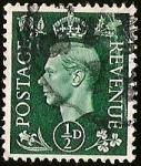sellos de Europa - Reino Unido -  POSTAGE REVENUE - JORGE VI