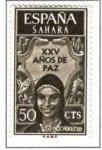 Stamps Spain -  SAHARA EDIFIL 239 (7 SELLOS)INTERCAMBIO