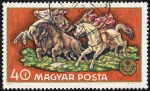 Stamps Hungary -  Caza