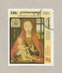 Stamps Cambodia -  Virgen con niño