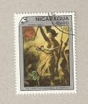 Sellos de America - Nicaragua -  La libertad conduciendo al pueblo
