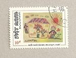 Stamps Vietnam -  Pintura infantil