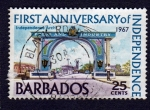 Sellos de America - Barbados -  FIRST ANNIVERSARY OF INDEPENDENCE