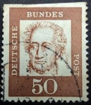 Stamps Germany -  Johann Wolfgang von Goethe (1749-1832)
